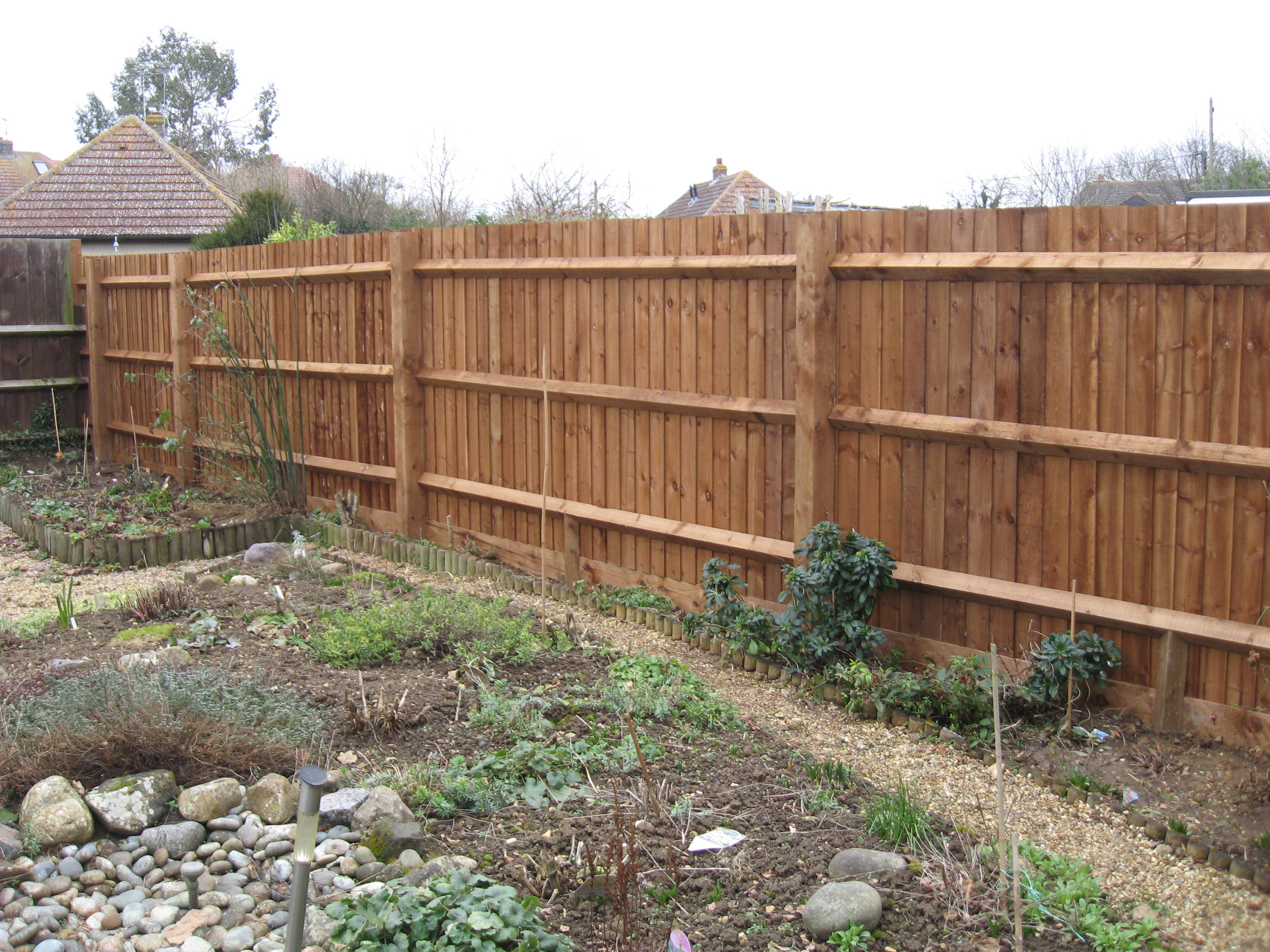 fence quotation sample. closeboard fencing with arris rails and notched posts fence quotation sample